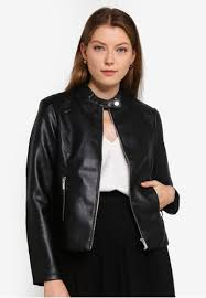 dorothy perkins black faux leather