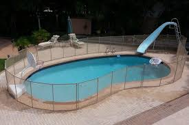 Beige Swimming Pool Fences Baby Guard Pool Fence