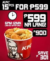 kfc bucket of 15 promo philippine