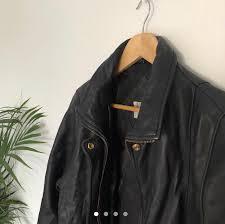 vintage leather jacket medium