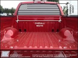 Custom American Flag Rear Window Decal Choose Your Size Importequipment Rear Window Decals Rear Window American Flag Decal