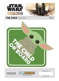 Star Wars The Mandalorian The Child Baby Yoda Window Decal Baby On Board Fanwraps Toywiz