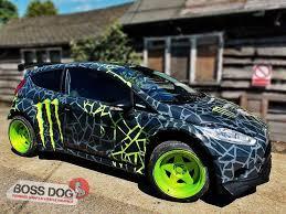 Motorsports Boss Dog Vinyl Wrap Car Wrap Vehicle Graphics Autos Pintura De Autos Ford Fiesta