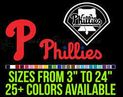 Phillies Car Decal Etsy