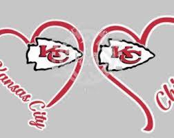 I Heart Chiefs Window Decal Kansas City Football Arrowhead Window Decals Moving To Alaska Color Show
