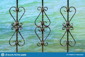 Art Work Old Iron Gate Frame Decorative Wrought Fence Retro Decor Architecture Element Ornament Stock Photo Image Of Ornament Design 175389310