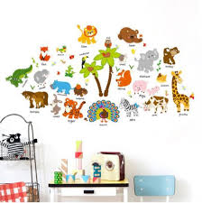 China Removable Coconut Tree Animal Cartoon Wall Sticker Kids Room Decoration China Wall Sticker And Home Decoration Price