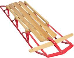 Amazon.com : Best Choice Products 53in Kids Wooden Snow Sled Sleigh Toboggan  w/Metal Runners, Flexible Steering Bar, 220lb Capacity : Sports & Outdoors