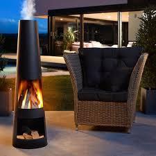 a stylish fireplace a cosy wood fire