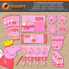 Kit Imprimible Peppa Pig Hada Modelo 2 Personalizado Candy