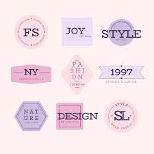 minimal logo collection with pastel