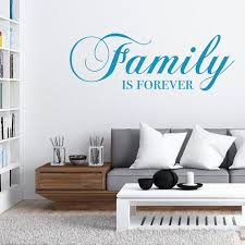 Family Is Forever Vinyl Wall Decal Quote Etsy
