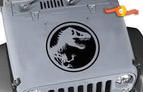 Product Jeep Hood Decal 20 Jurassic Park Jeep Hood Sticker Wrangler Rubicon Cj