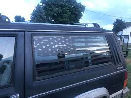 Jeep Cherokee 2dr Xj Distressed American Flag Window Decals X2 Etsy