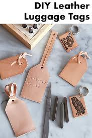diy leather bag luggage tags sweet