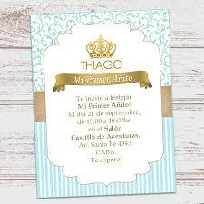 Kit Imprimible Corona Dorada Principe Cumpleanos Nene Varon