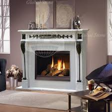 stone fireplace marble mantel