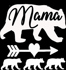 Amazon Com Mama Bear 3 Cubs Vinyl Decal 5 X5 White Automotive