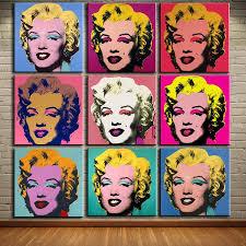Dp Artisan Andy Warhol 9pcs Marilyn Monroe Wall Art Oil Painting Print Elleseal