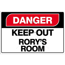 Kids Bedroom Door Sign Danger Style Loads Of Different Colours