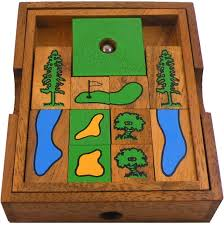 golf field wooden puzzle brain teaser