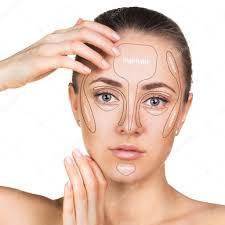 contour and highlight makeup stock