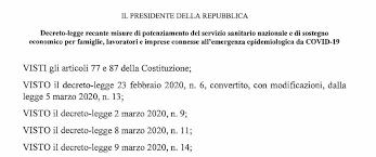 Coronavirus: decreto 'Cura Italia', testo ufficiale (pdf) - NotizieOra
