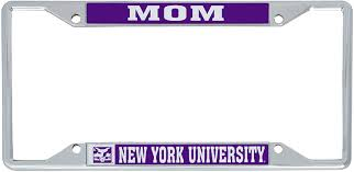 New York University Nyu Violets Ncaa Metal License Plate Frame For Front Back Of Car Officially Licensed Mom Walmart Com Walmart Com