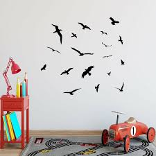 Winston Porter Clennell Flock Of Birds Flying Wall Decal Reviews Wayfair