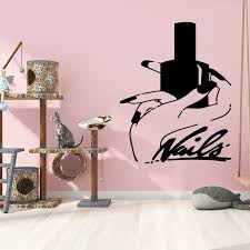 Drop Shipping Nails Beauty Salon Wall Decal Living Room Removable Mural For Kids Rooms Diy Home Decoration Wall Decor Murals Wall Stickers Aliexpress