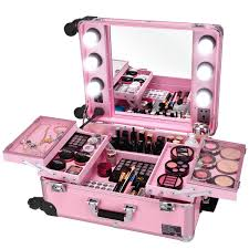studio artist train rolling makeup case