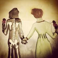 """I followed you all over the forest so we would get married one day"""" *Sweet  drawing by Abby Portner.   Arte"""