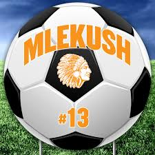 Custom Soccer Player Name Number And Mascot Fence Yard Signs