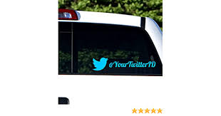 Amazon Com Custom Twitter Personalized Car Wall Vinyl Decals Stickers 15 Inches Home Kitchen