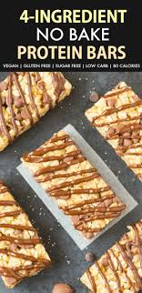 easy 4 ing no bake protein bars