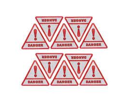 10pcs Red Car Vehicle Triangle Type Danger Decal Bumper Sticker Newegg Com