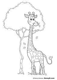 Kleurplaat Giraf Gratis Kleurplaten Om Te Printen