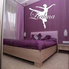 Dance Custom Name Wall Decal Dress Choose Color Girls Room Etsy