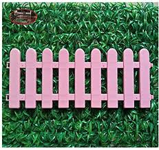 Keket1 Decorations Garden Picket Fence Border Blue Plastic Indoor Courtyard 50cm Long Picket Fence Edging 16cm High Picket Fence Kit 2 Colors Pink Amazon Co Uk Kitchen Home