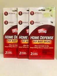 New Ortho Home Defense Fly Bait Decal For Windows 2 Pack X 3 6 Baits Total Ebay