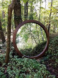 circle mirror round wood framed mirror