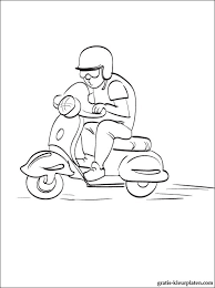 Motorfiets Kleurplaten Gratis Kleurplaten