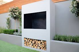 contemporary outdoor fireplace designs