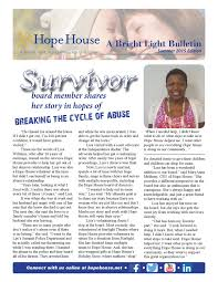 Hope House Bright Light Summer 2015 Newsletter by Hope House - issuu