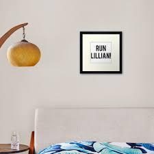 Run Lillian Font Two Framed Art Print By Ashlan Redbubble