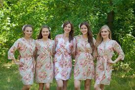 chagne bridesmaids robes kimono