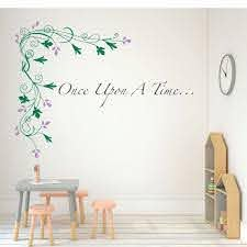 Amazon Com Once Upon A Time Wall Decal Flower Vinyl Mural Decor For Girls Bedroom Teen Or Tween Classroom Or School Decorations Handmade