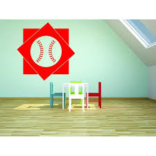 Custom Wall Decal Sticker Baseball Design Boys Bedroom Baby Teen 12x18 Walmart Com Walmart Com