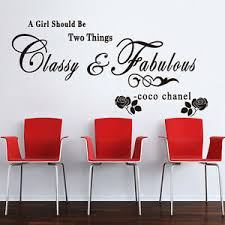 A Girl Should Be Classy Fabulous Quote Girls Ladies Wall Stickers Decals Ebay