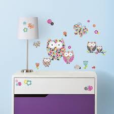Decals Stickers Vinyl Art Prisma Owls Wall Decals Prismatic Flowers Room Decor Stickers Flowers Butterfly Home Garden Vibranthns Lk
